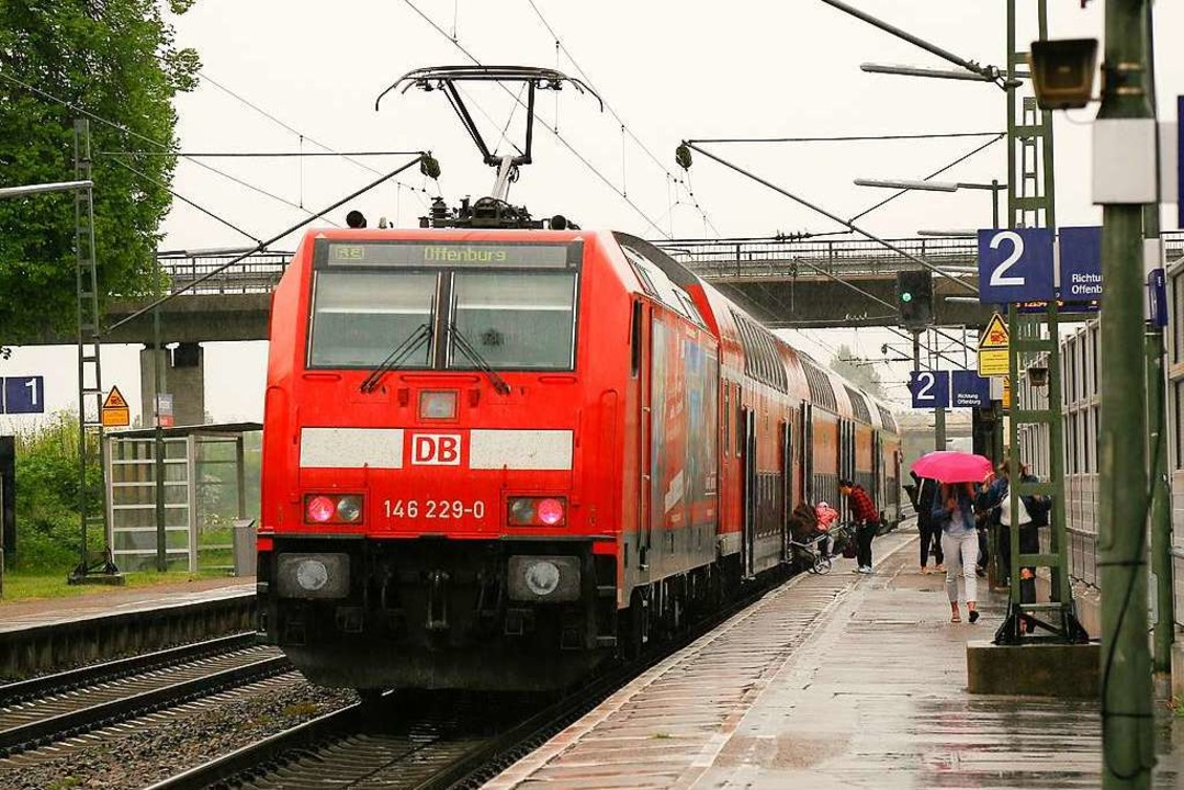 Der Bahnhof in Ringsheim – bisher halten hier nur Regionalbahnen.  | Foto: Sandra Decoux-Kone