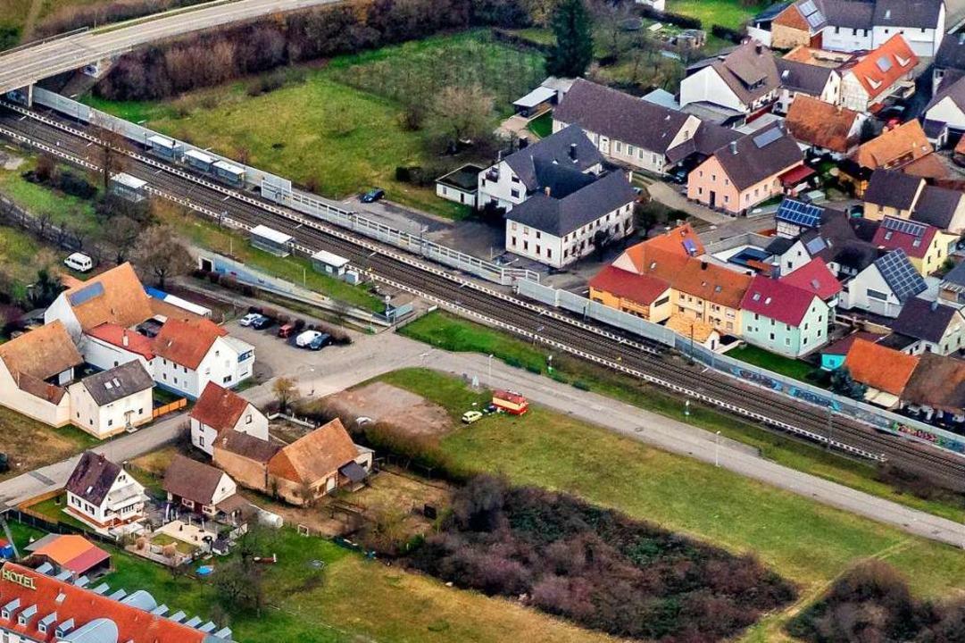 Der Bahnhof in Ringsheim – er mü...werden, damit hier ICEs halten können.  | Foto: Martin Bildstein copyright