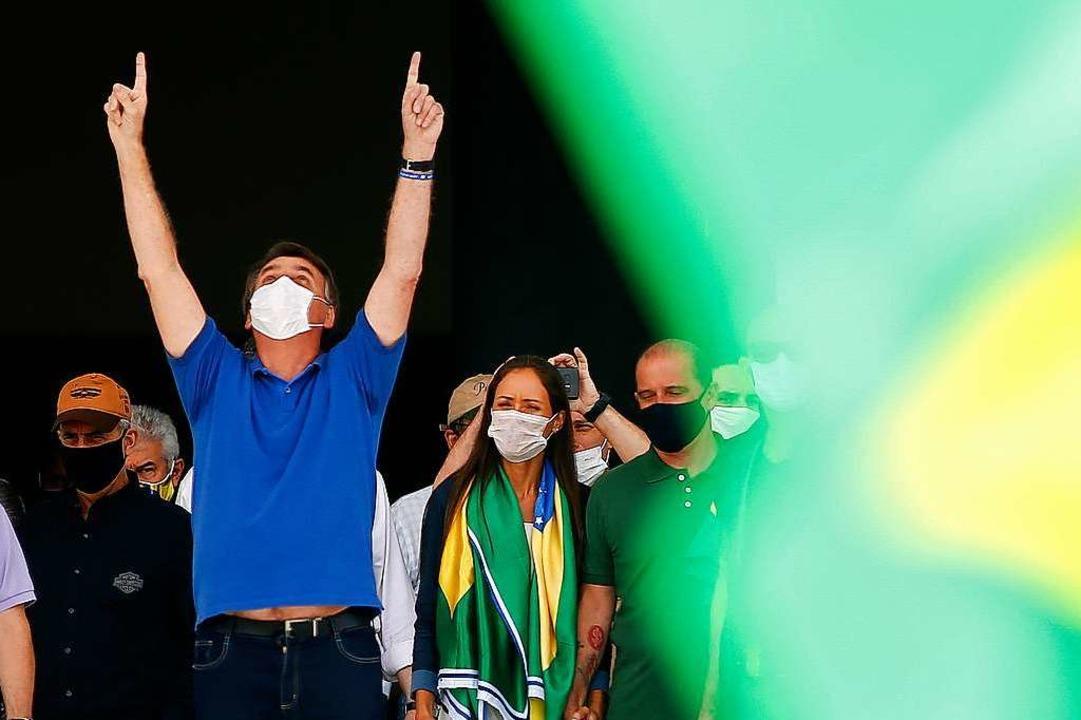Der brasilianische Präsident Jair Bolsonaro    Foto: SERGIO LIMA