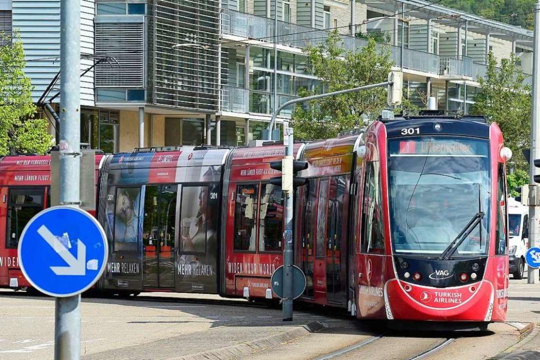 Ein Mann hat am Donnerstag in Freiburg...n der Linie 1 randaliert (Archivbild).  | Foto: Ingo Schneider