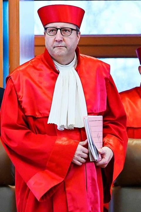 Seine Wahl zum Präsidenten des Bundesv...lücksgriff erweisen: Andreas Voßkuhle.  | Foto: Uli Deck
