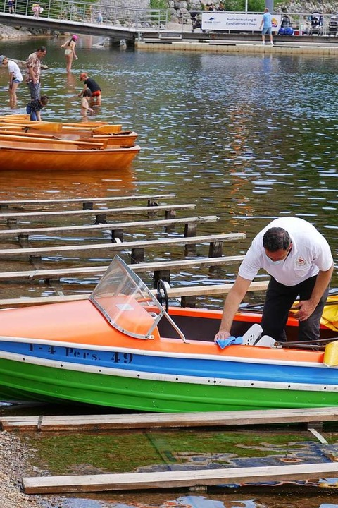Auch die Boote wurden desinifizert  | Foto: Eva Korinth