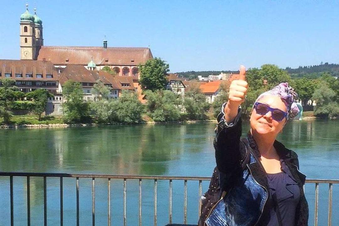 Freut sich über die Grenzöffnung: Tatj...ergrund das Münster von Bad Säckingen.  | Foto: Annemarie Rösch