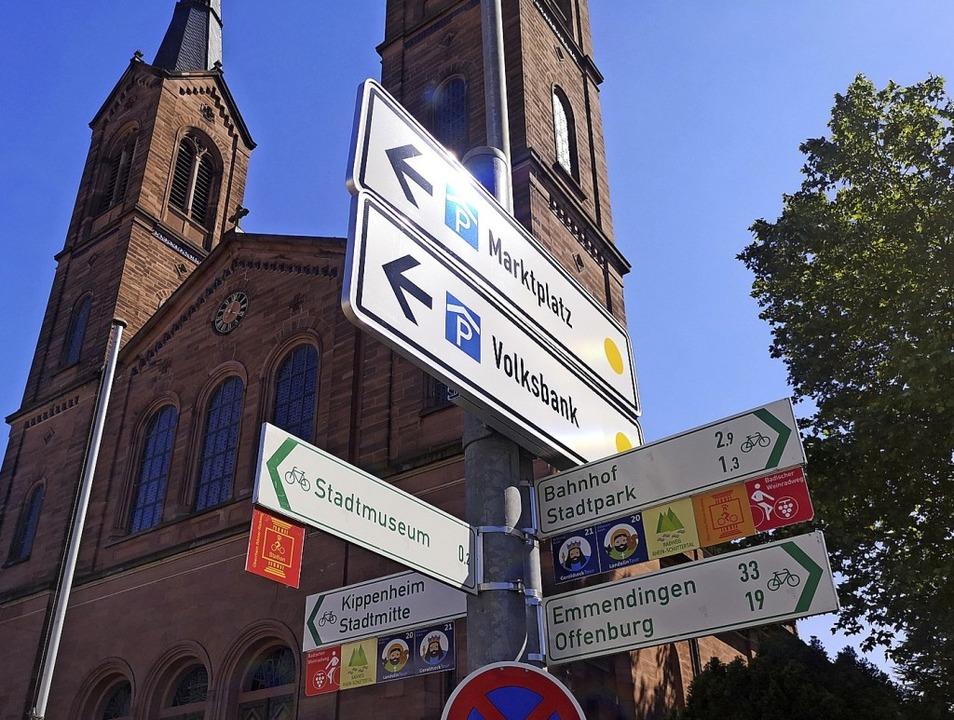 Radwegweiser gibt es beispielsweise an...e Schnellverbindung nach Emmendingen?   | Foto: Stadt Lahr