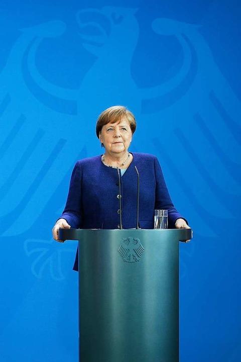 Viele Bürger schätzen ihre ruhige Hand: Kanzlerin Angela Merkel (CDU).  | Foto: Odd Andersen (dpa)