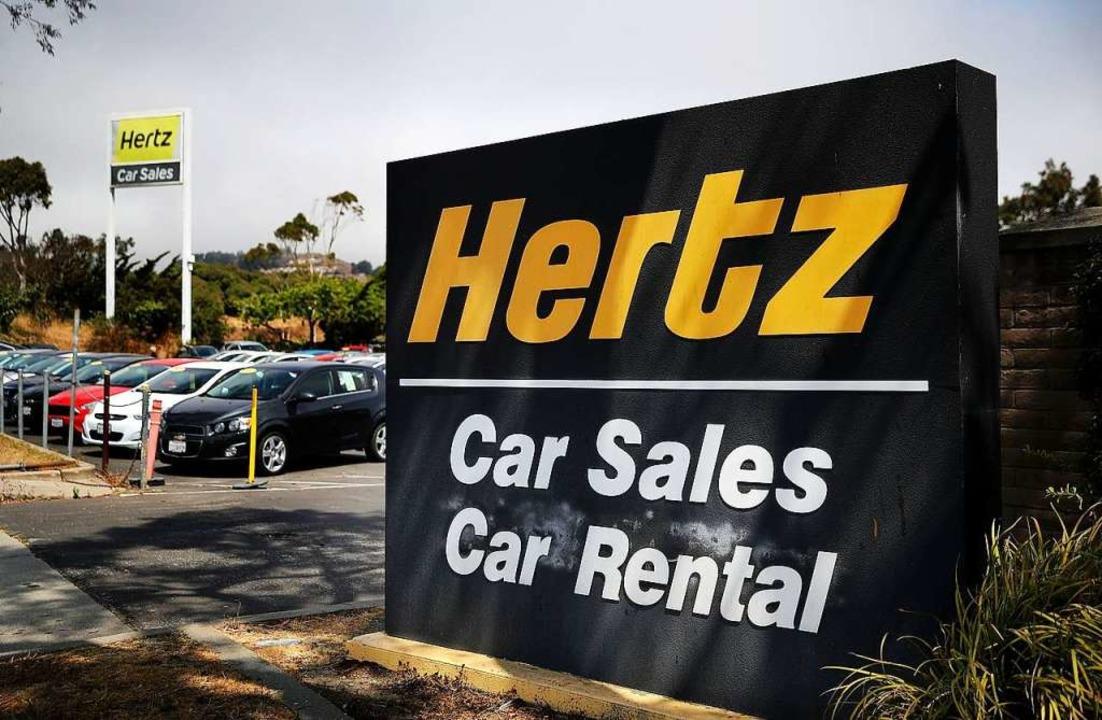 Hertz ist einer der größten Leihwagenf...h unter den Marken Dollar und Thrifty.  | Foto: JUSTIN SULLIVAN (AFP)