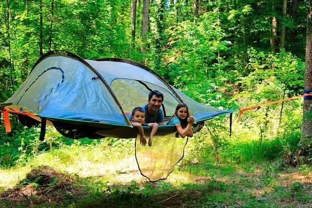 In Bad Säckingen können Naturbegeisterte im Baumzelt übernachten