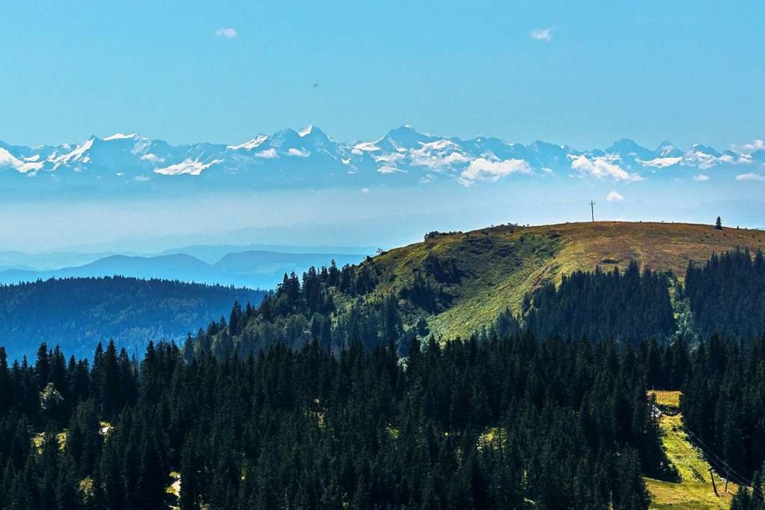 Alpensicht vom Westweg aus  | Foto: Hanno Müller