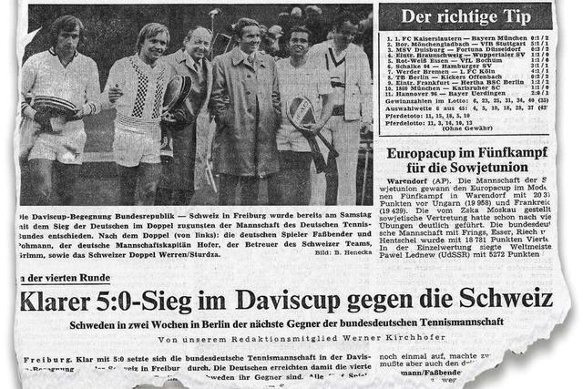 Pohmann und der Prinz beim Tennis-Daviscup in Freiburg