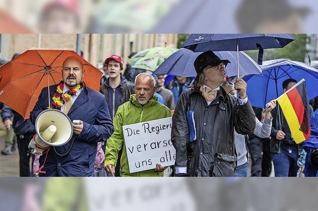 Nur wenige bei Protesten gegen Corona-Auflagen