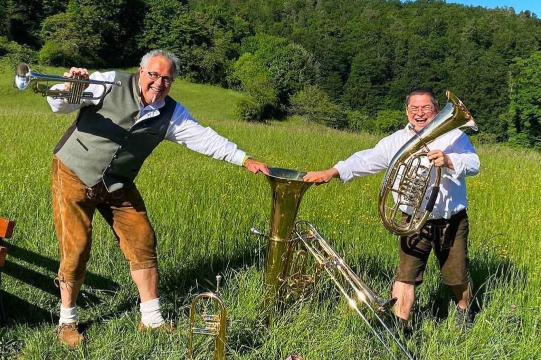 Kreativ in der Krise: Thomas Wengert und Edgar Stüber  | Foto: Kaja Wohlschlegel