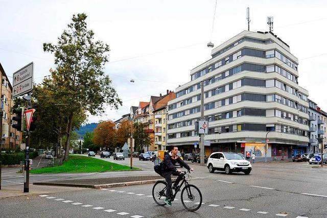 Radwege am Nordende der Freiburger Eschholzstraße werden verbessert