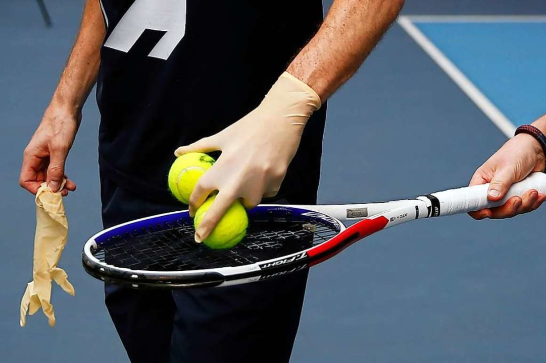 Tennissport in Corona-Zeiten  | Foto: Francois Mori (dpa)