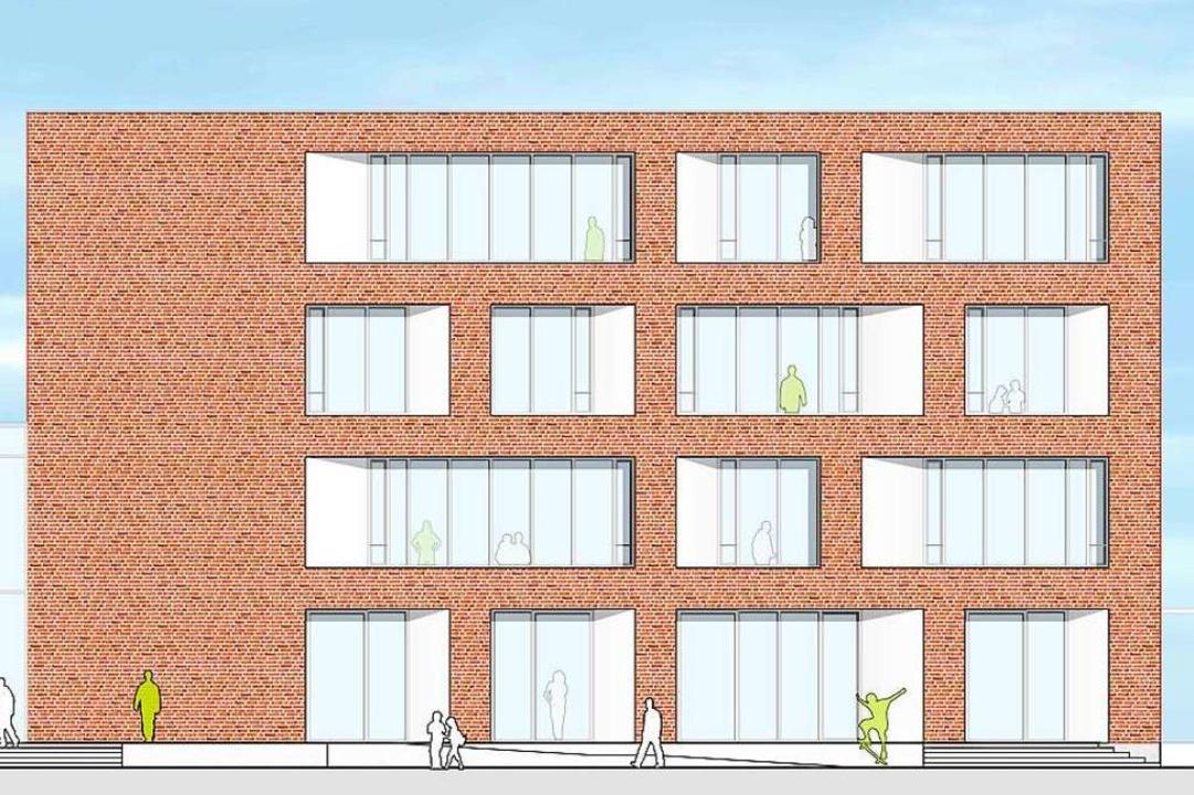 So wird der Erweiterungsbau der Albert-Schweitzer-Schule einmal aussehen.   | Foto: hotz+architekten
