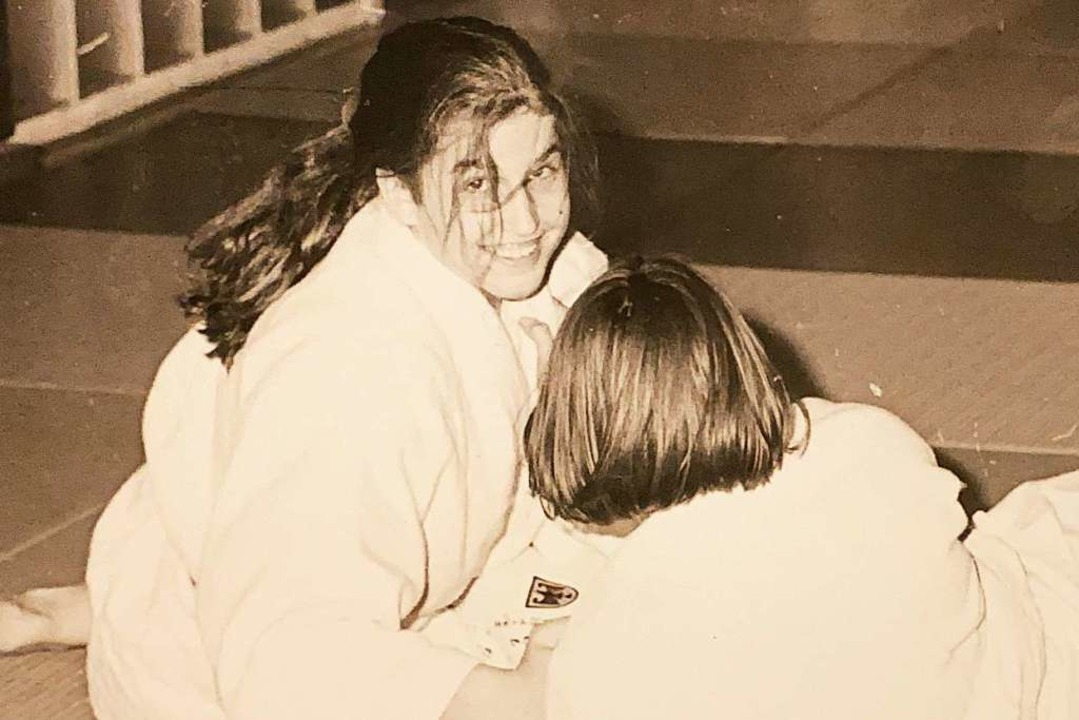 Sarah Riester als Judoka in den 1990er Jahren ...  | Foto: Privat