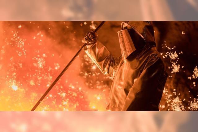Stahlhütten kochen auf Sparflamme