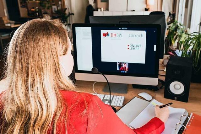 Seit Mitte März läuft der Lehrbetrieb der DHBW Lörrach komplett digital