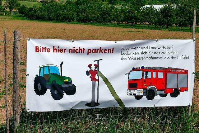 Aktion gegen zugeparkte Hydranten überrascht die Weiler Feuerwehr