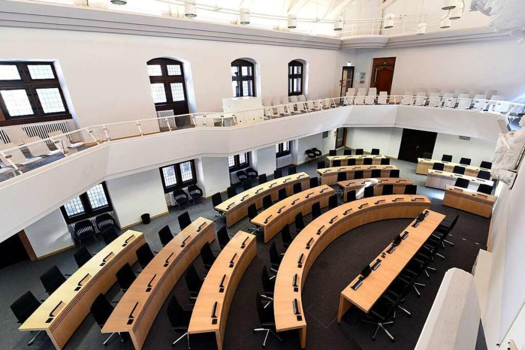 Der Freiburger Ratssaal wird weiterhin... im Bürgerhaus Zähringen (Archivbild).    Foto: Thomas Kunz