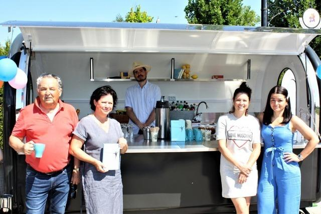 Früherer Hochseilartist Johann Traber junior eröffnet Kiosk in Breisach