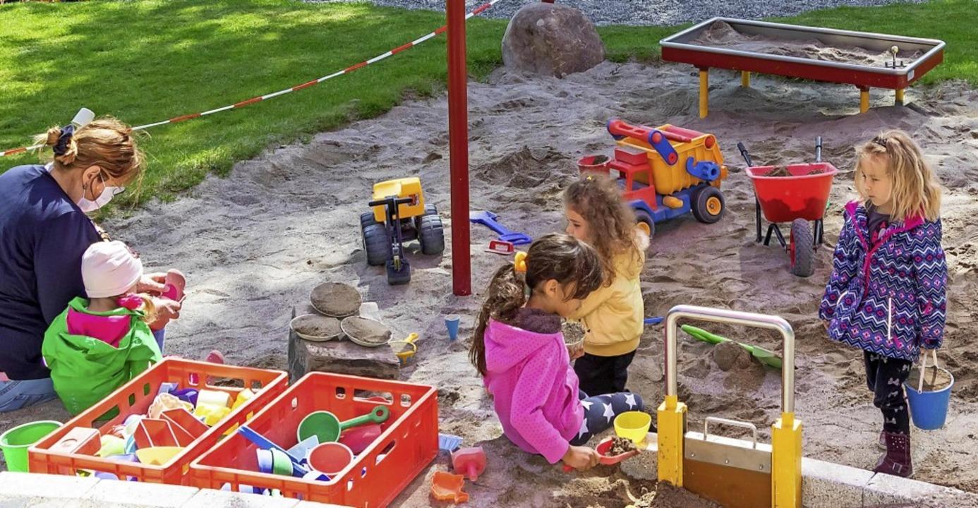 Der reduzierte Regelbetrieb im Kinderg...hard Grafenhausen ist gut angelaufen.   | Foto: Chris Seifried