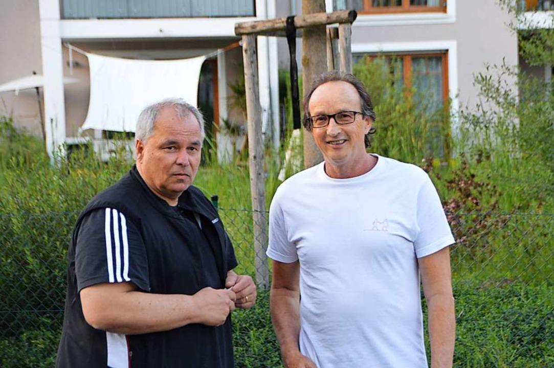 orbert März (links) und Andreas Metzger fühlen sich gestört.  | Foto: Horatio Gollin