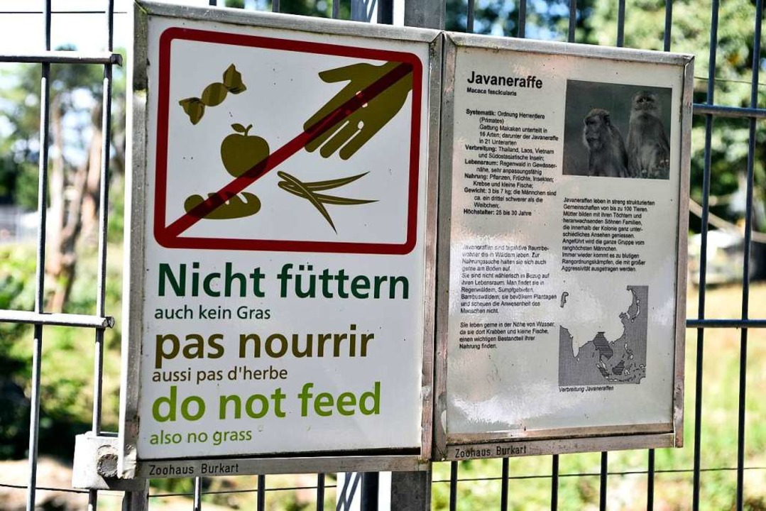 Die Ansage auf dem Mundenhof ist klar:...tern der Tiere ist eindeutig verboten.  | Foto: Thomas Kunz