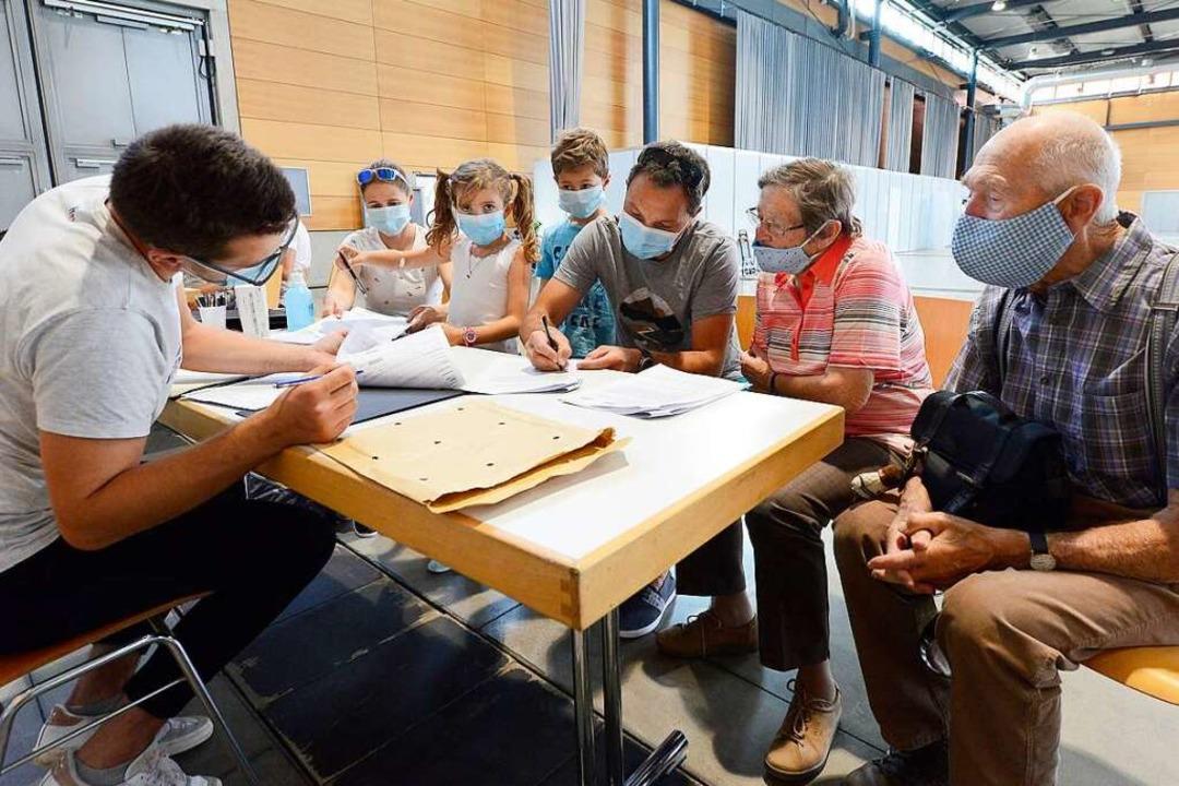 Familie Schanz vom Schluchsee nahm auc...r Studie im Freiburger Fieberambulanz.  | Foto: Ingo Schneider