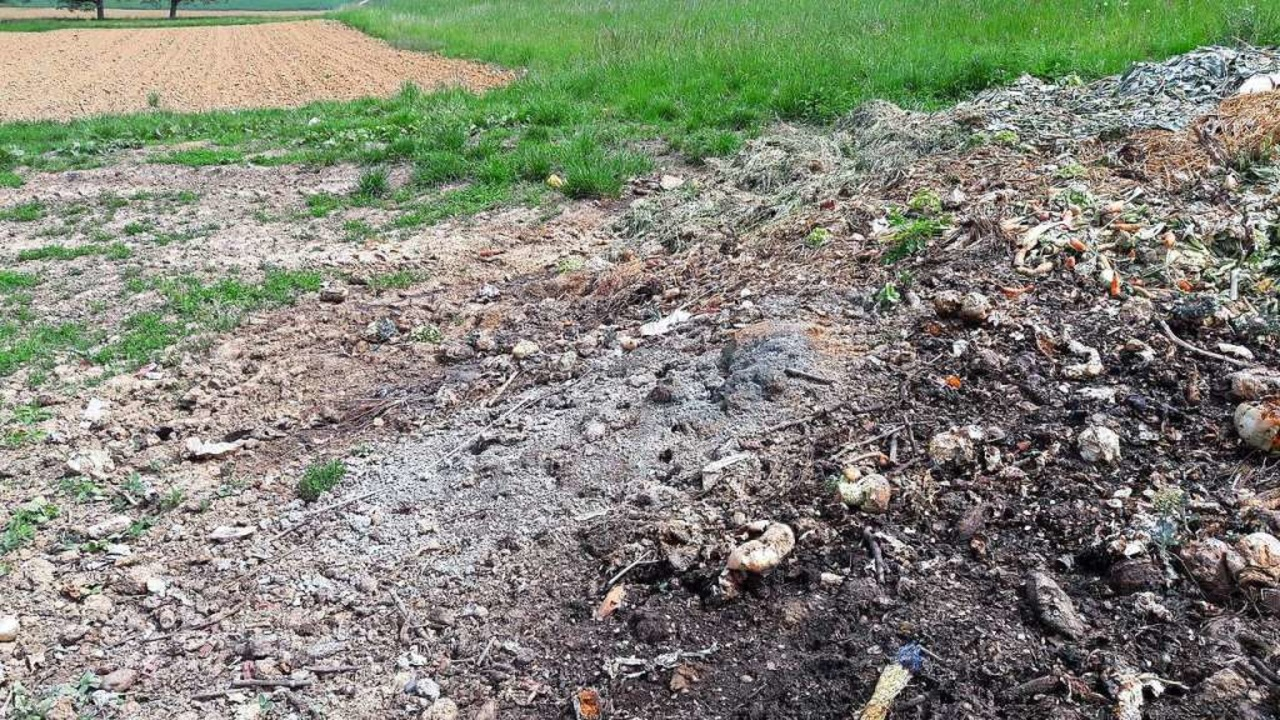 Müll auf dem Kompost – das bringt den Landwirten Ärger.  | Foto: privat