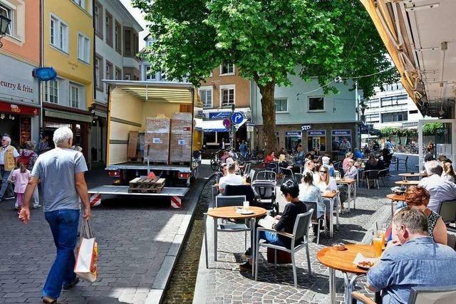 In die Freiburger Innenstadt ist das Leben zurückgekehrt