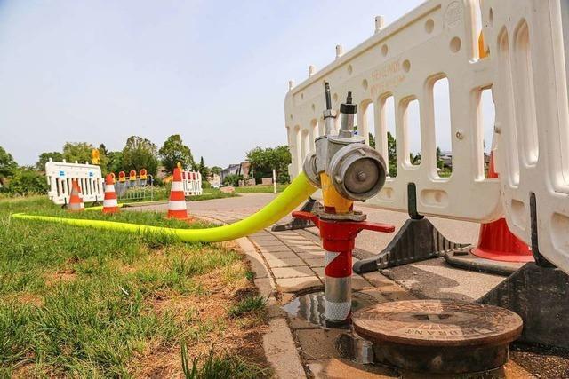 Wegen Problemen bei der Wasserversorgung wurden Mitarbeiter der Gemeinde angegangen
