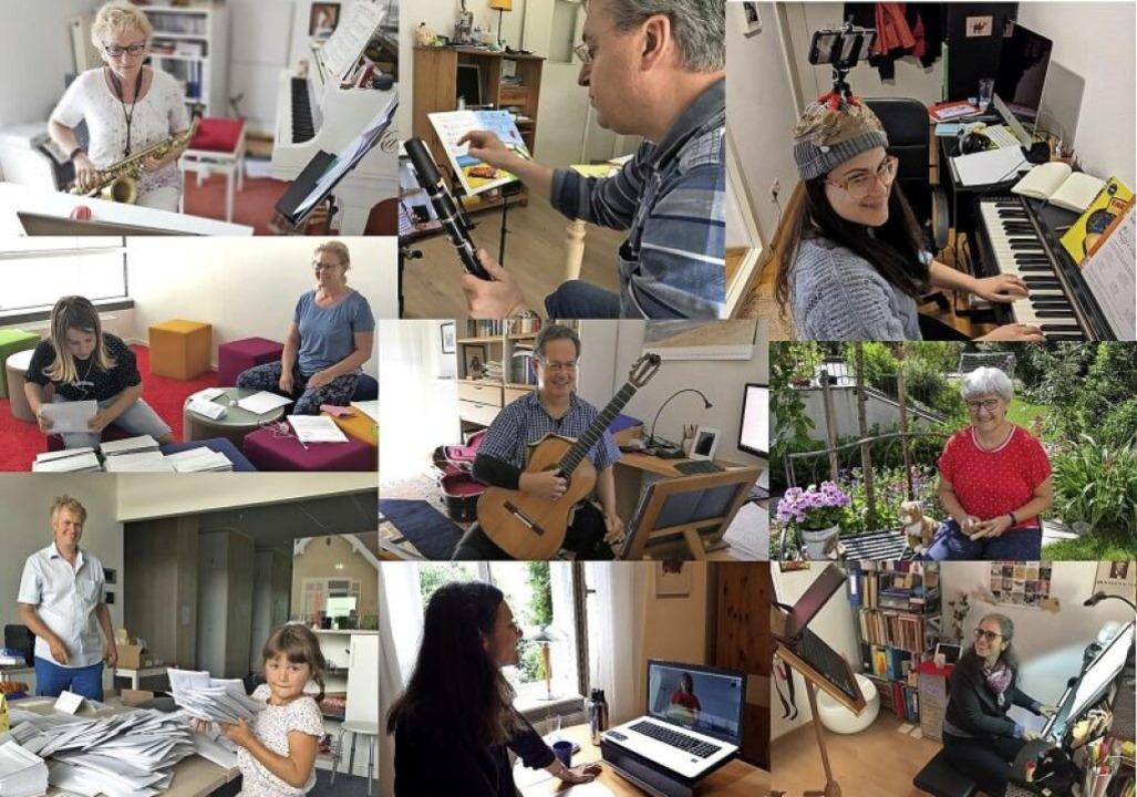 Die Lehrer der Musikschule Waldkirch h...iten parallel das neue Schuljahr vor.   | Foto: Stadt Waldkirch