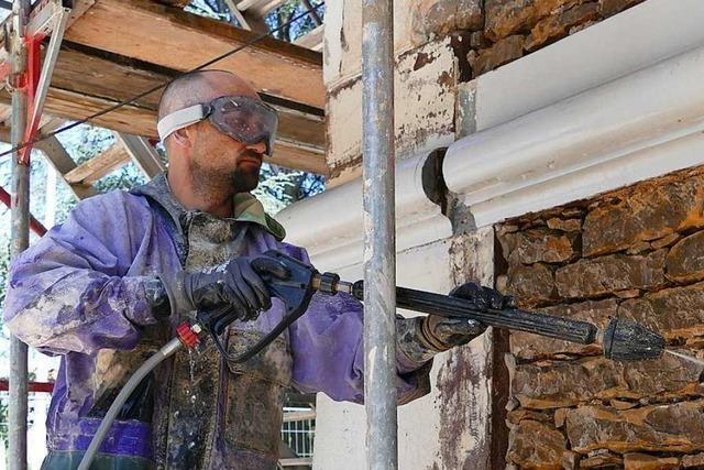 Die Sanierung der Lörracher Villa Aichele dauert bis Herbst