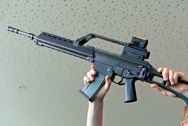 Maschinengewehr entpuppt sich in Lörrach als Tischbein