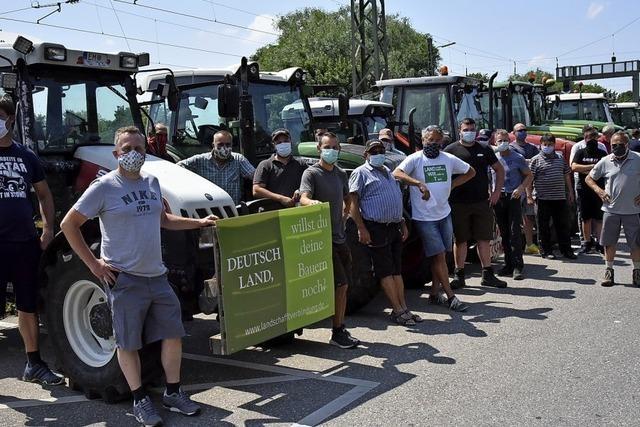 Protest gegen die Behandlung von Landwirten