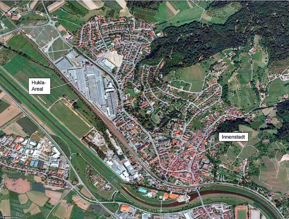 Ein Areal, so groß wie die Gengenbache...maligen Hukla-Firmengelände überplant.    Foto: stadt