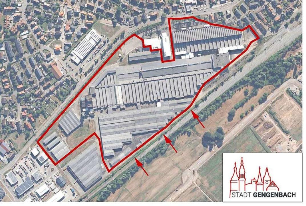Das bauliche Ende eines  wesentlichen ...alten Firmengebäuden befreit (rechts).    Foto: Stadt Gengenbach, Google Maps