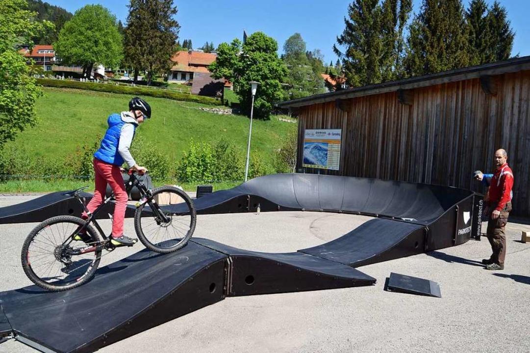 Neue Attraktion in Todtnauberg: der Pumptrack für Biker und Skater  | Foto: Ulrike Jäger