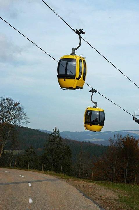 Die Belchenbahn schwebt wieder.  | Foto: Bergmann