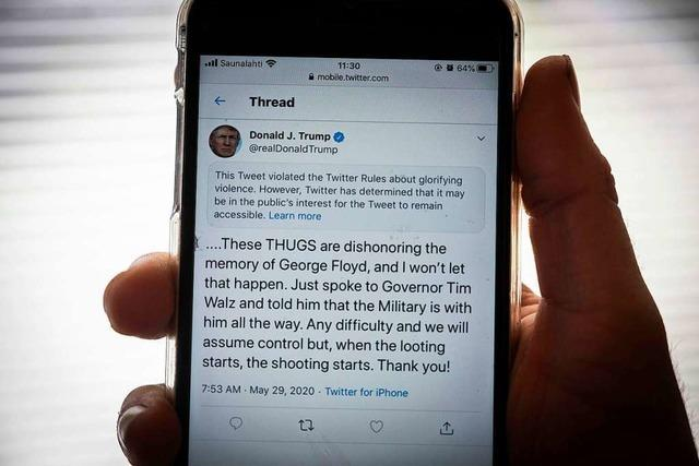 Trump tritt nach Faktencheck-Ärger Feldzug gegen Twitter und Co. los