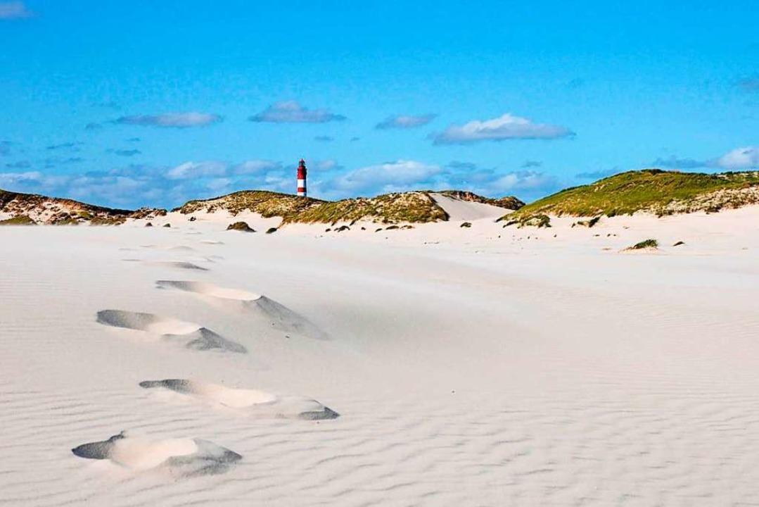 Die deutsche Küste hat nicht viel zu b...genteil. Im Bild: Sandspuren auf Amrum  | Foto: Kai Quedens (dpa)