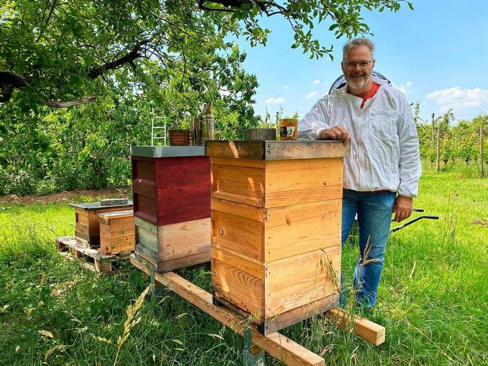 Hobbyimker Christian Müller wurden zwei Bienenstöcke gestohlen.  | Foto: Laura Müller