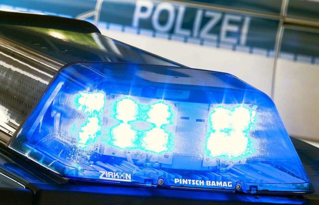 Zeitweise verlor die Polizeistreife de...krachte es in der Philipp-Reis-Straße.  | Foto: Friso Gentsch (dpa)