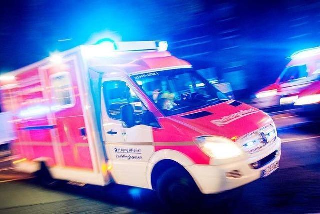 Unfall mit fünf Verletzten auf der A5 bei Baden-Baden