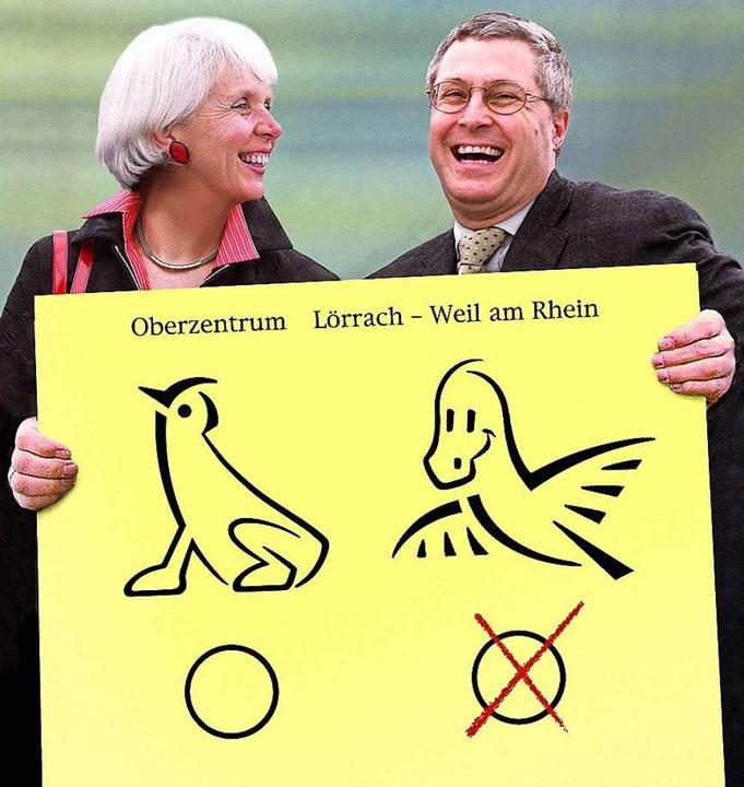 Zwei, die wahrlich nicht immer einer M...te-Bluhm und ihr Amtskollege aus Weil.  | Foto: Hans-Peter Beck