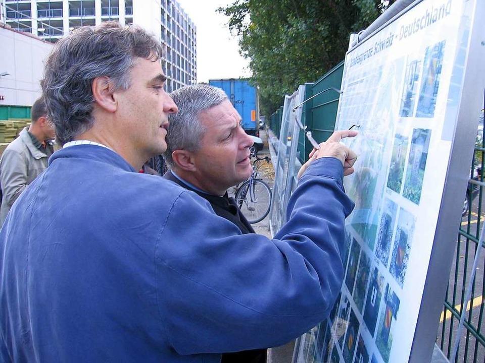 Basels Regierungsrat Guy Morin und der...e sie als Kinder gespielt haben (2007)  | Foto: Andrea Drescher