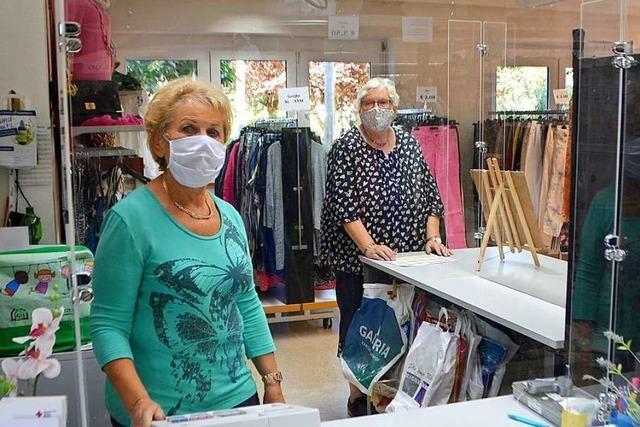 Der DRK-Kleiderladen Rheinfelden hat nach zwei Monaten wieder geöffnet