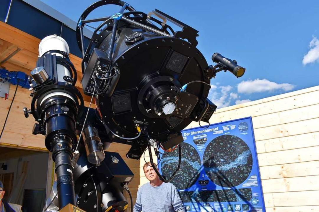 Die Phaenovum-Sternwarte in Gersbach w...sionellen Spiegelteleskop ausgerüstet.  | Foto: Thomas Loisl Mink