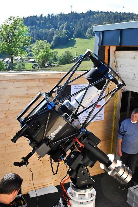 Die Sternwarte  wurde mit einem Spiegelteleskop ausgerüstet.  | Foto: Thomas Loisl Mink