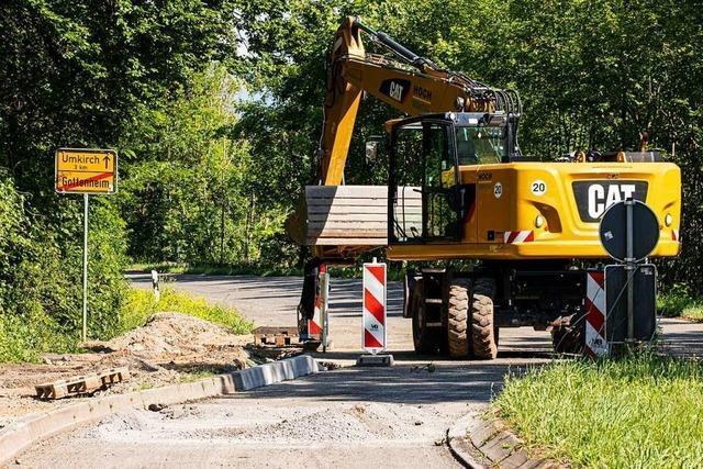 Baubeginn für den langersehnten Radweg zwischen Umkirch und Gottenheim